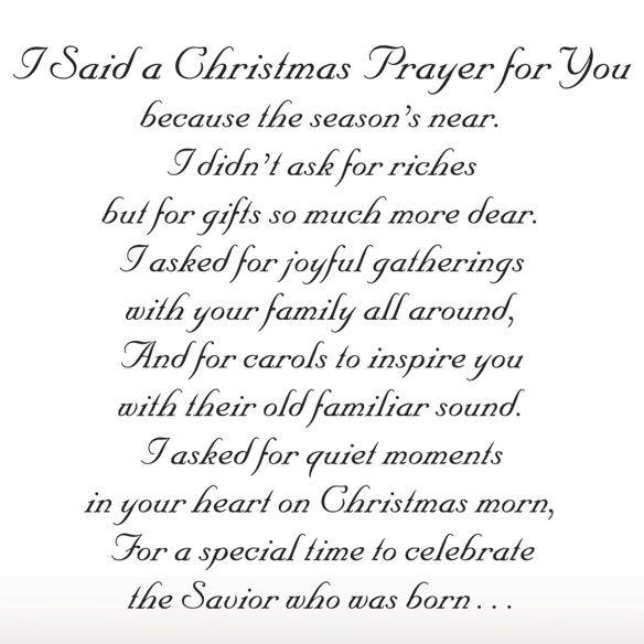 family prayer said a christmas prayer religious christmas card set of 20 - Religious Christmas Card Quotes