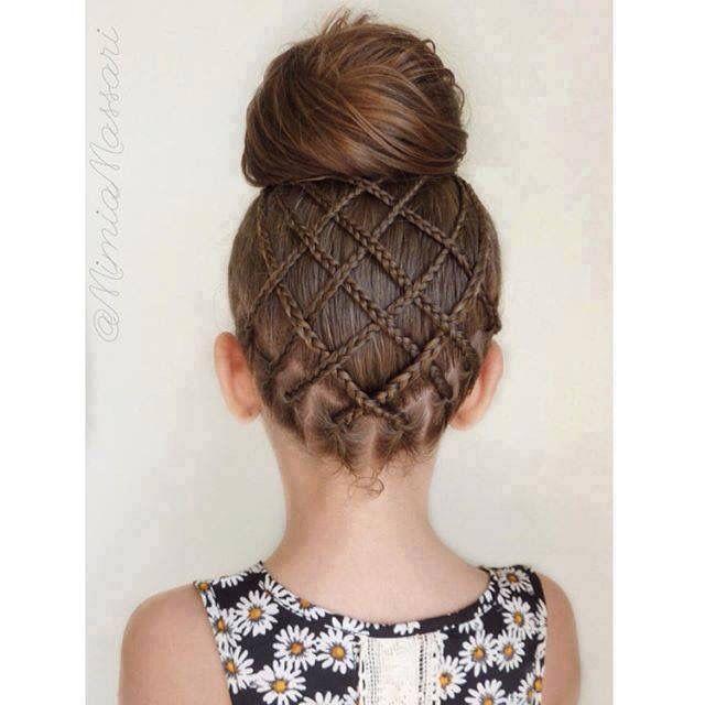 Peinado niña pelo Pinterest Peinados, Trenza y Peinados niños - peinados de nia faciles de hacer