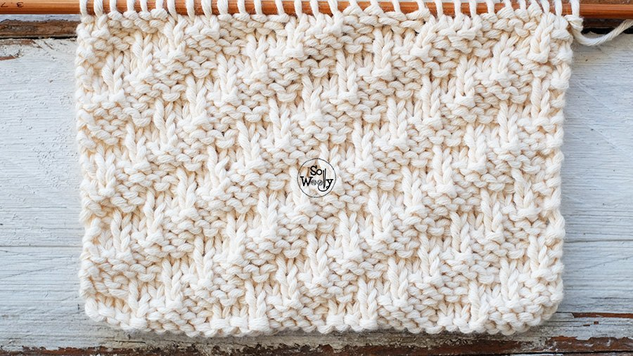 Photo of A textured knitting stitch for beginners: Diagonal to the right -For scarves, co…