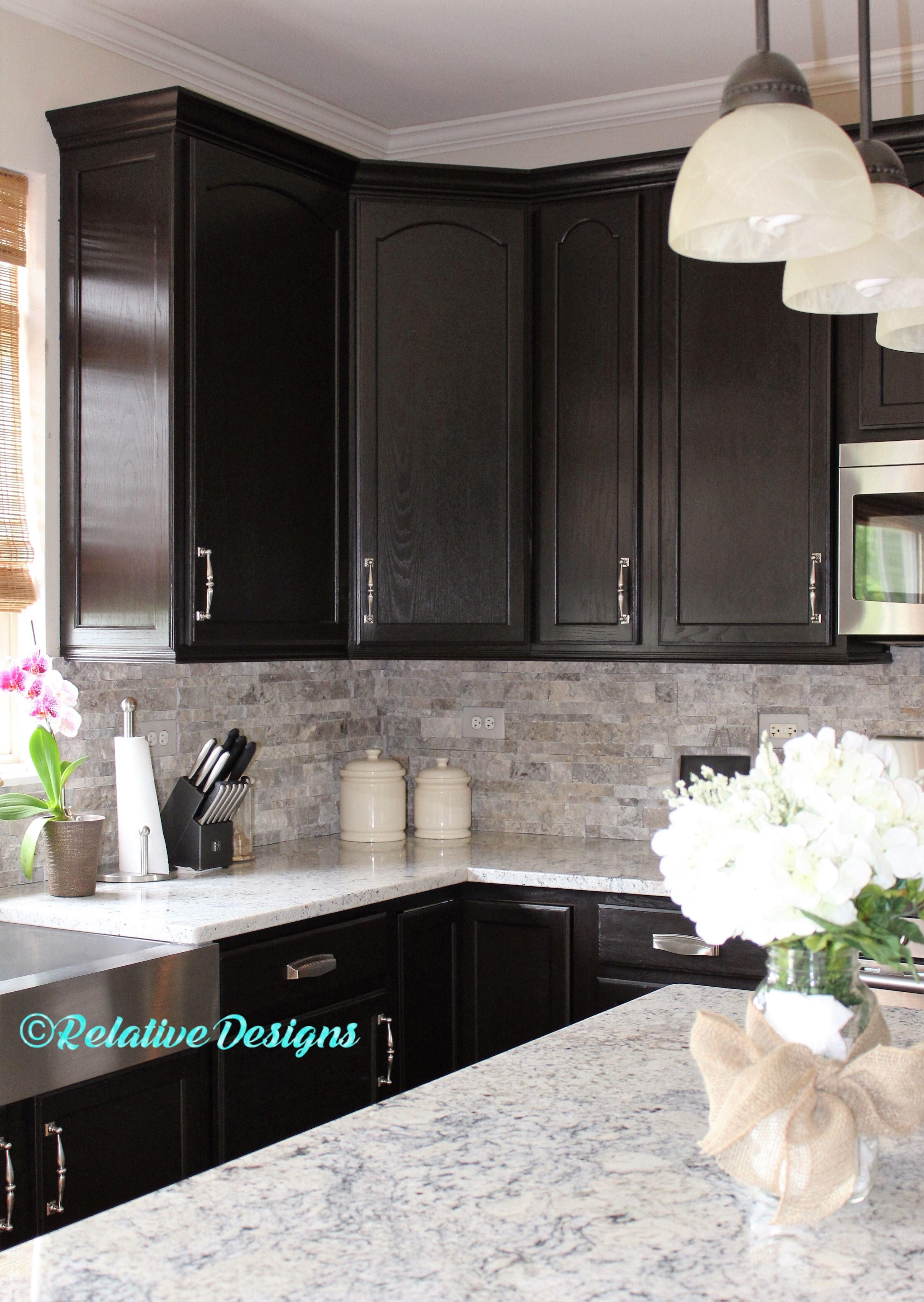 Hellgraue Küchenschränke Dunkle Holz Küche Diy