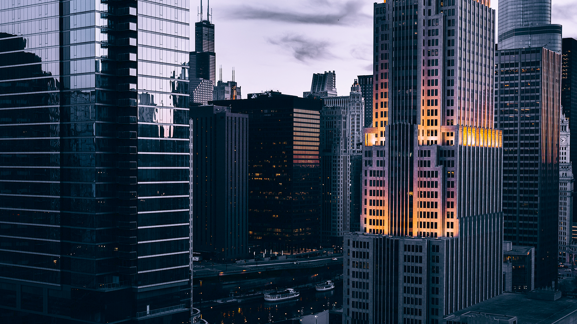 Chicago PostPunk Blue [1920x1080] (With images) R