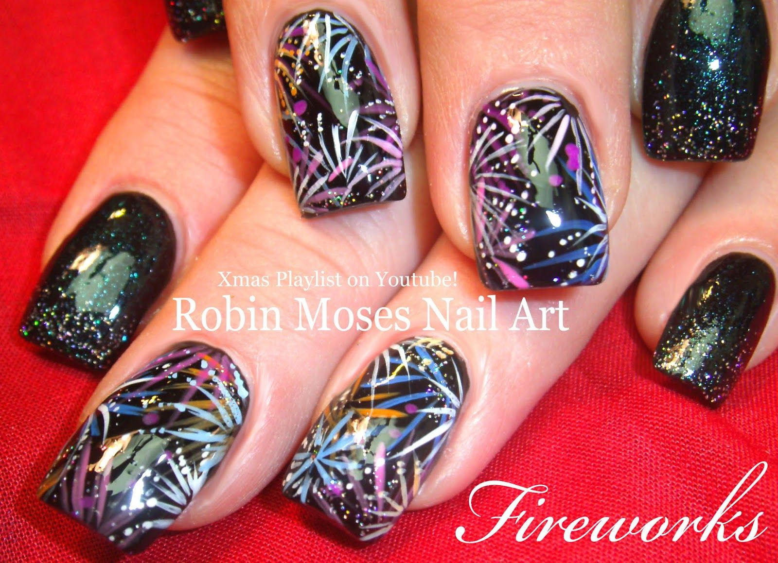 Nail Designs For New Years 2016 Nail Ftempo Firework