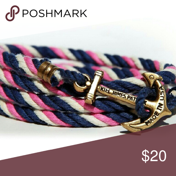 Kjp sail wind spinnaker bracelet Pink white and navy from the kjp collection. Comes in box kjp Jewelry Bracelets