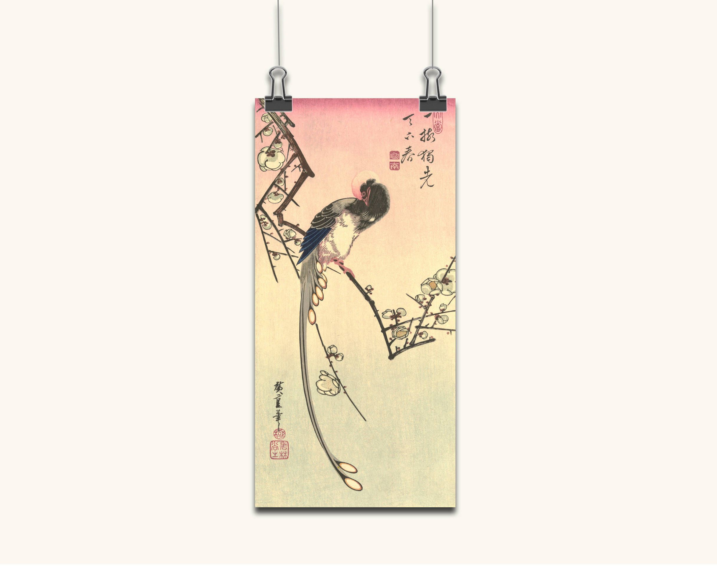 JAPANESE ART Japanese art wall art Japanese print Japanese Plum and ...