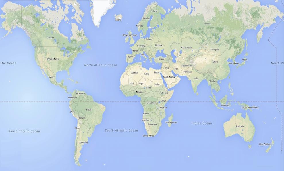 """Résultat de recherche d'images pour """"carte du monde google"""