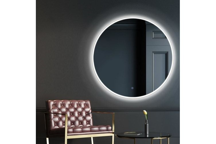Led Wall Mirror Bathroom Mirrors With Light 90cm Decor Round