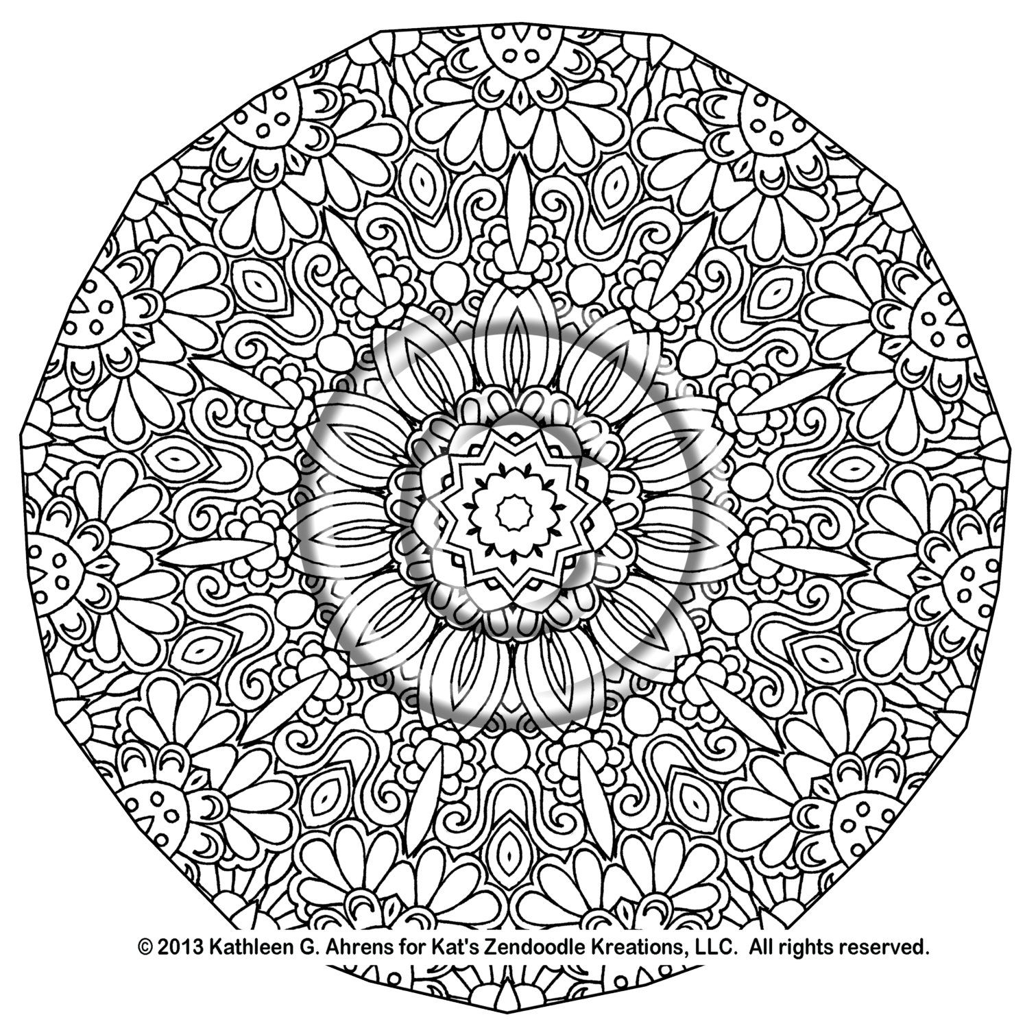 Complicated coloring pages complicated coloring pages for Adult coloring pages mandala