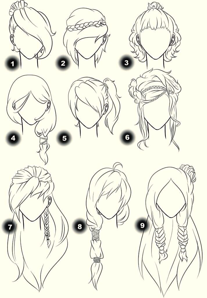 Different Hairstyles For U To Try Sketches Drawings Manga Drawing