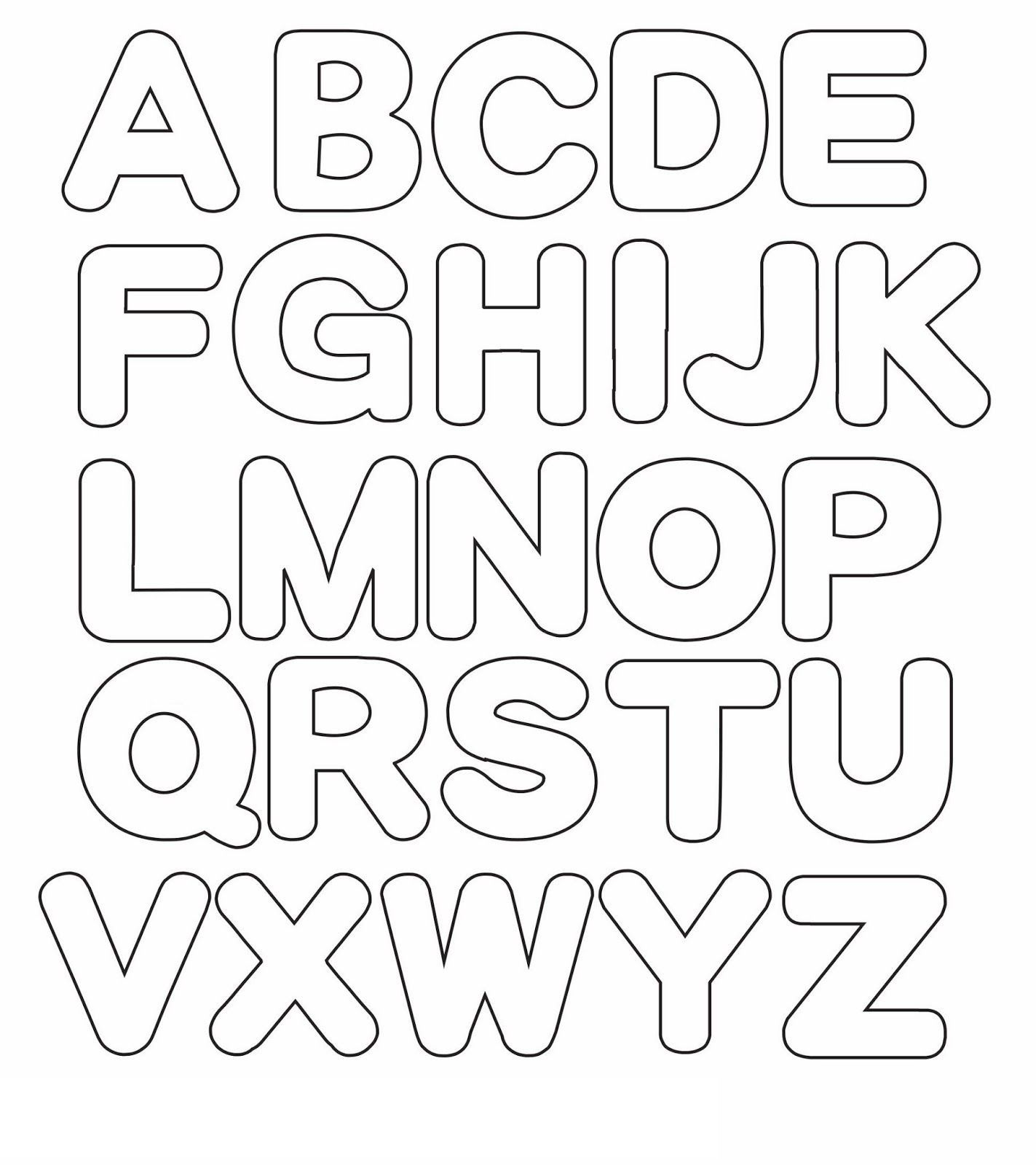 Alphabet Template To Print
