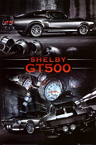 Ford Shelby Gt500 Poster 24 X 36in Click On The Image For Additional Details Note It Is Affiliate L With Images Mustang Shelby Shelby Mustang Gt500 Ford Mustang Shelby