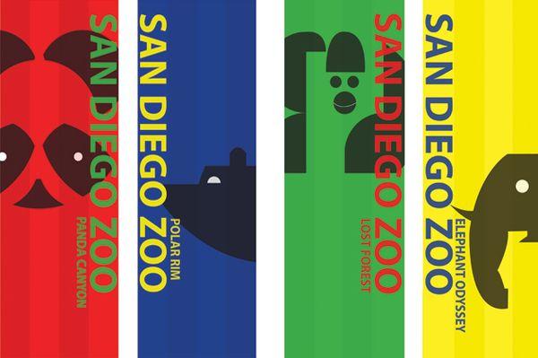 San Diego Zoo Banners Icons By Rachel Y Kim Via Behance San Diego Zoo Zoo Zoo Park
