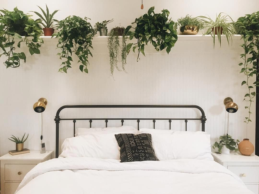 Long Shelf Above Bed Branchabode Bedroomdecorideas Bedroom Wall Decor Above Bed Remodel Bedroom Above Bed Decor