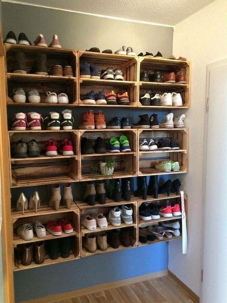 25 Simple Wall Shoes Rack Ideas You Can Make Yourshelf In 2020