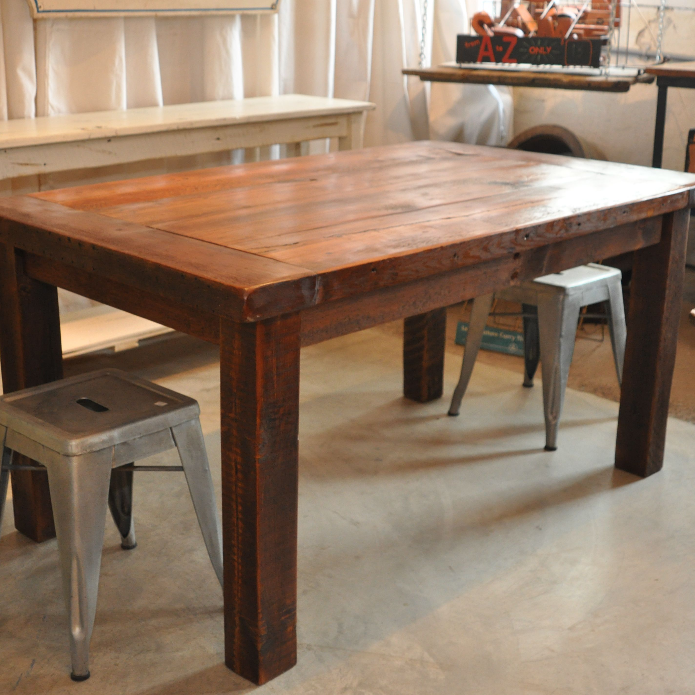SOLD Fabulous 1800s Reclaimed Wood Dining Table For Sale At Madison Mabel In Frederick