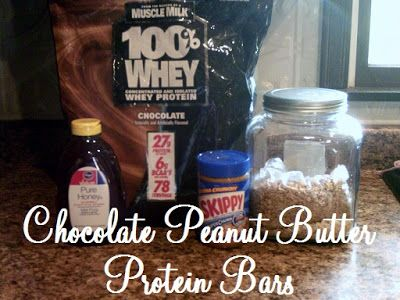 Chocolate Peanut Butter Protein Bars :: Happenings of a Housewife
