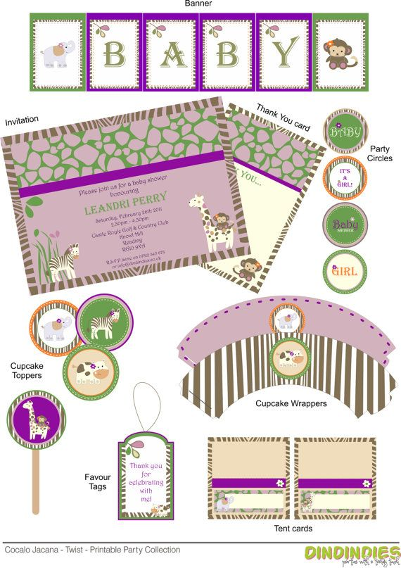 Cocalo Jacana With A Twist Baby Shower Printable By Dindindies