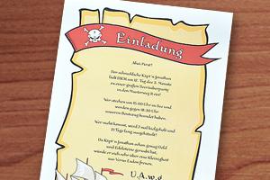 Einladungstext zum besten Piratengeburtstag
