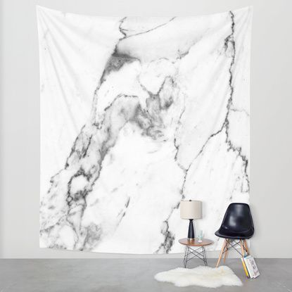 White Marble I Wall Tapestry by THE AESTATE | Society6