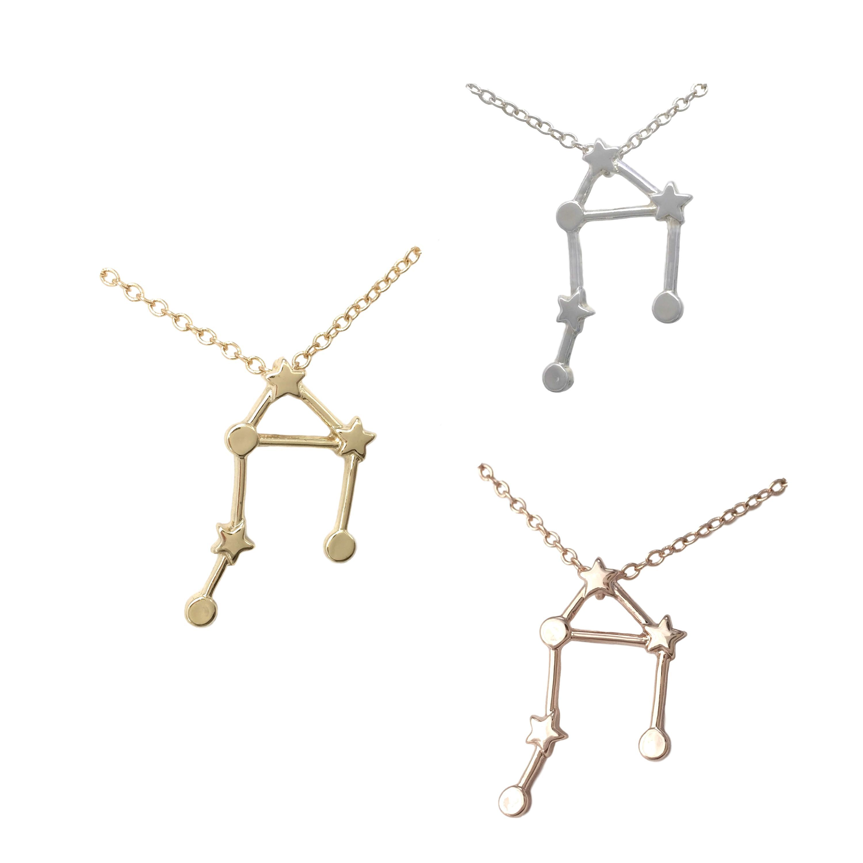 Libra zodiac constellation sign symbol pendant necklace libra