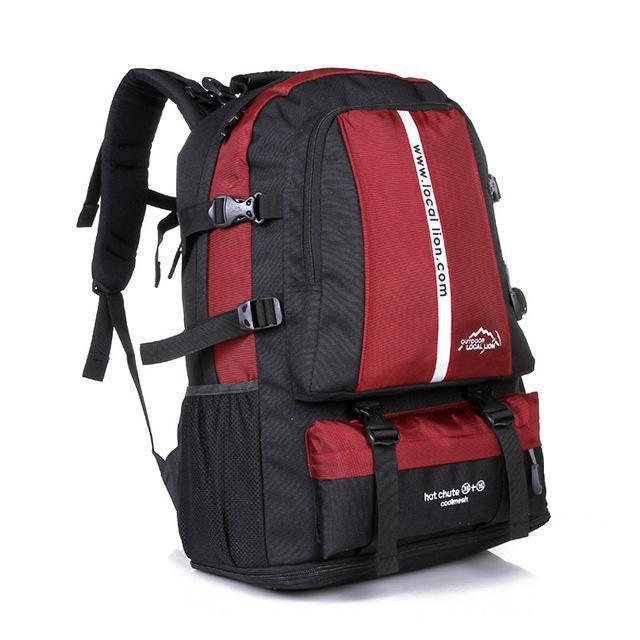 c58da7e531 Adjustable Size Outdoor Sports Backpack Large Capacity Travel Rucksack Heavy