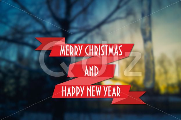 Qdiz Stock Photos Merry Christmas and New Year greeting card,  #background #blue #blur #blurred #card #celebration #Christmas #eve #greeting #happy #holiday #icicle #Merry #new #postcard #retro #season #Sunset #traditional #tree #vintage #winter #xmas #year