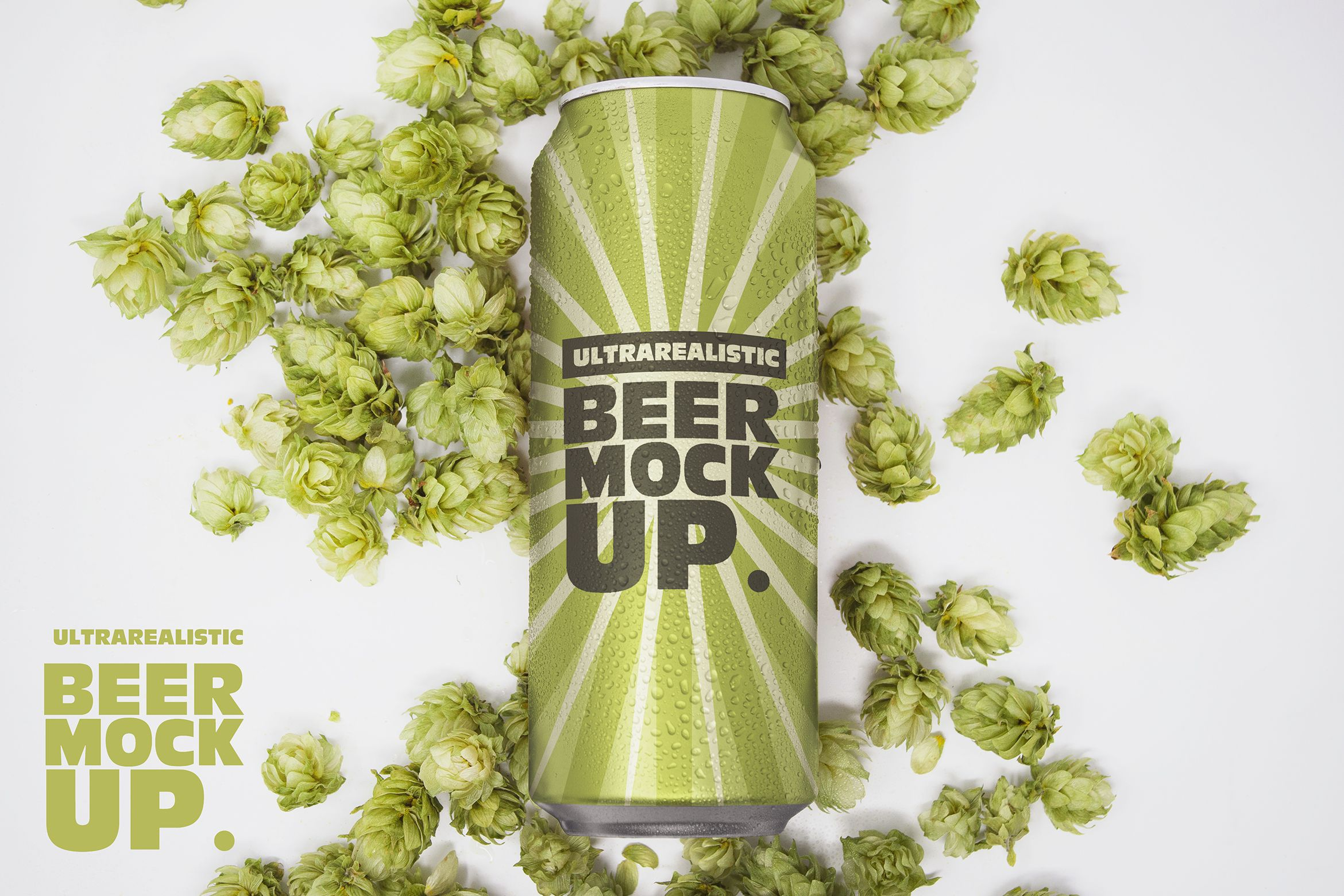 16oz Beer Can Mockup Graphic By Smartdesigns Creative Fabrica Beer Can Mockup Packaging Design Inspiration