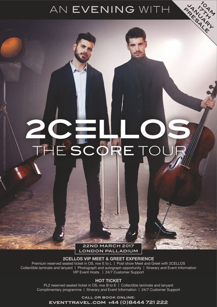 2cellos the london palladium 22 march 2017 2cellos take fans to 2cellos the london palladium 22 march 2017 2cellos take fans to the movies with new kristyandbryce Gallery