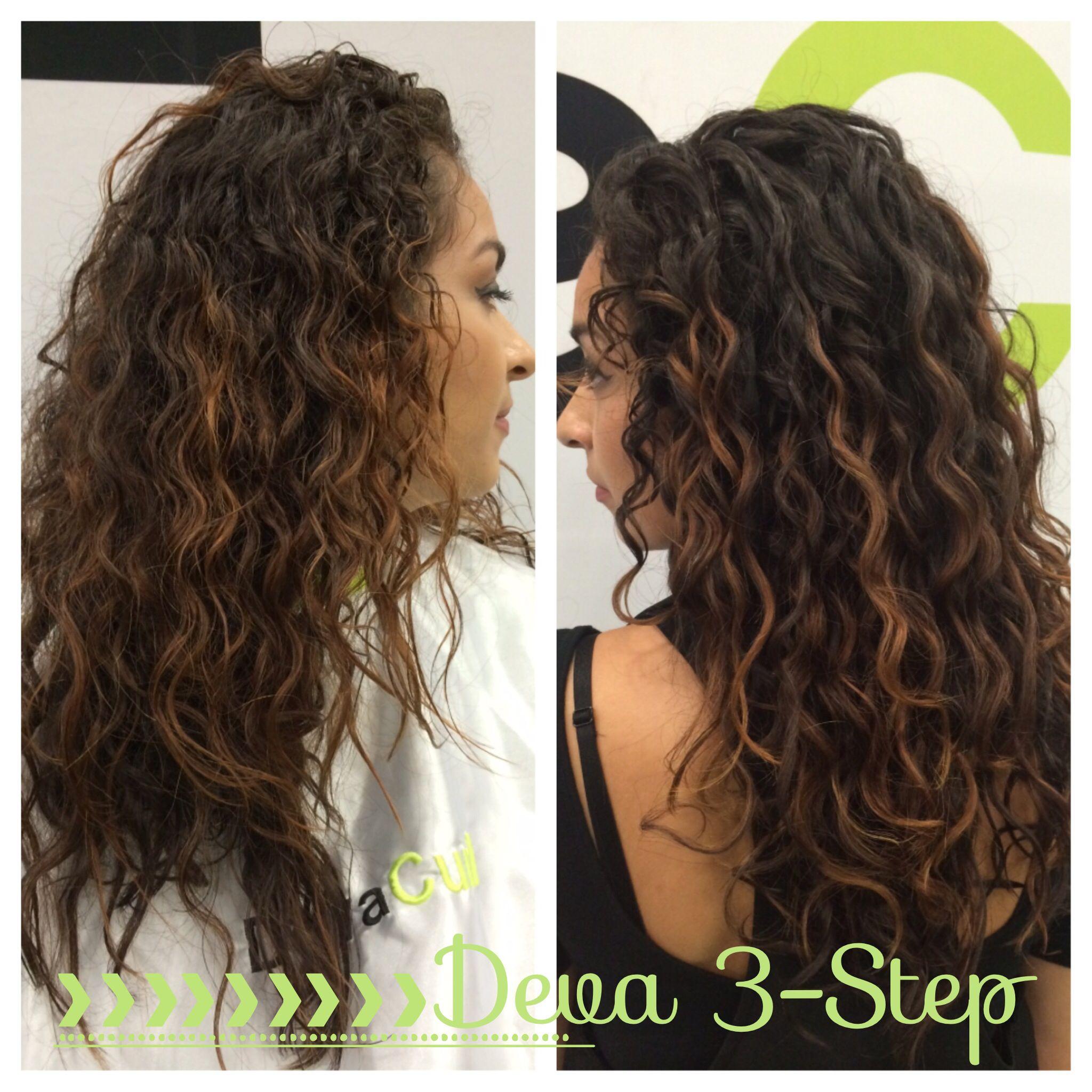 No Haircut Only One Application Of The Deva Curl 3 Step From Austin Hair Show Curly Hair Styles Hair Austin Hair