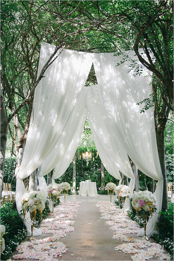 Beautiful garden wedding ceremony