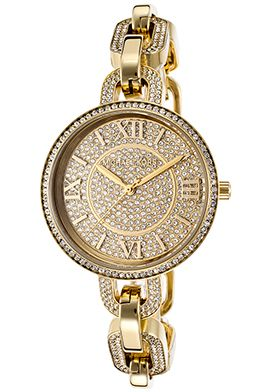 Michael Kors Women's Delaney Gold-Tone Stainless Steel Crystal Dial