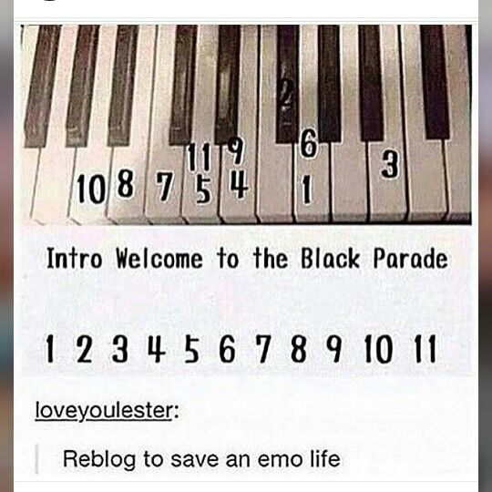 Repin To Save An Emo Life One Repin Is One Emo Saved Emo Music Piano Music Mcr