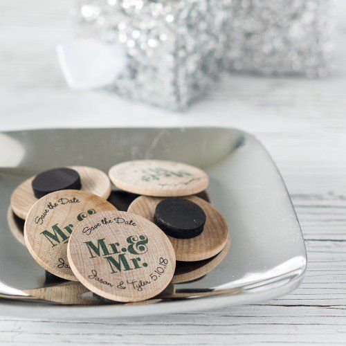 Personalized Wooden Wedding Magnets By Beau Coup