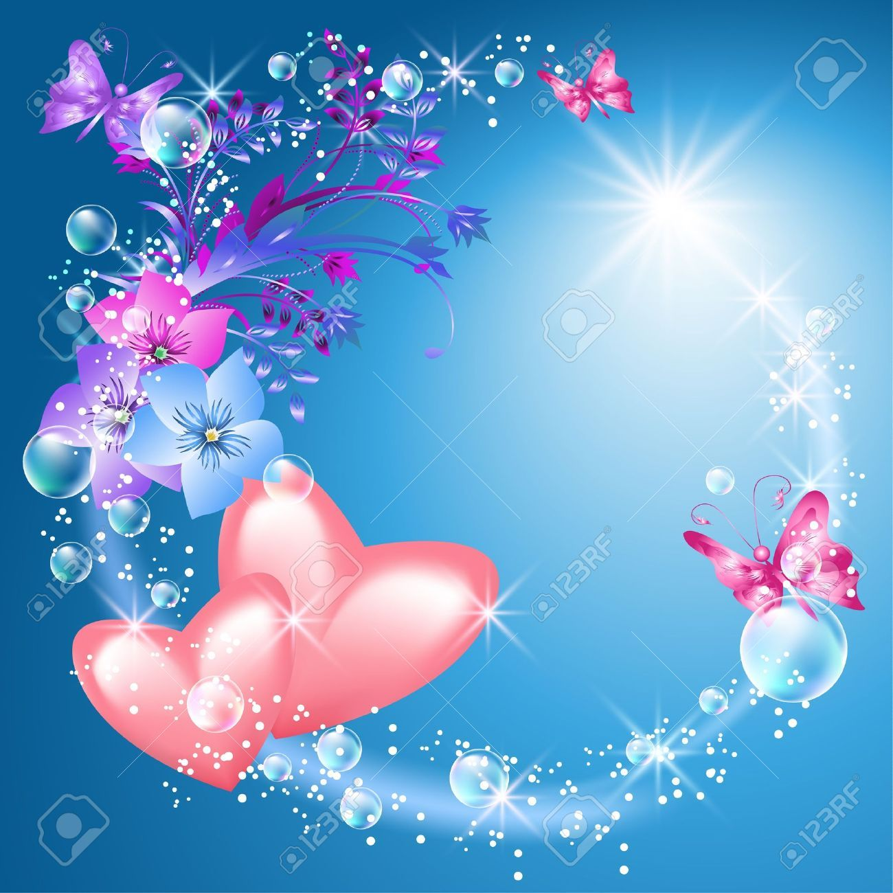 hearts and flowers background Google Search 1 Hearts&Love