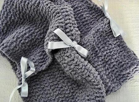 Como fazer uma maxi gola de tricô com laços - Vila do Artesão