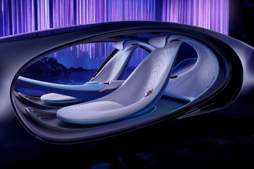 The Vision Avtr Interiors Are Also Made From Sustainable Materials Such As Vegan Leather Seats With A Floor Made Of Rattan In 2020 Concept Cars Mercedes Benz Mercedes