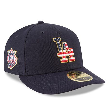 wholesale dealer d9c46 dc81d Buy Los Angeles Dodgers New Era 2018 Stars   Stripes 4th of July On-Field  Low Profile 59FIFTY Fitted Hat - Navy at Walmart.com
