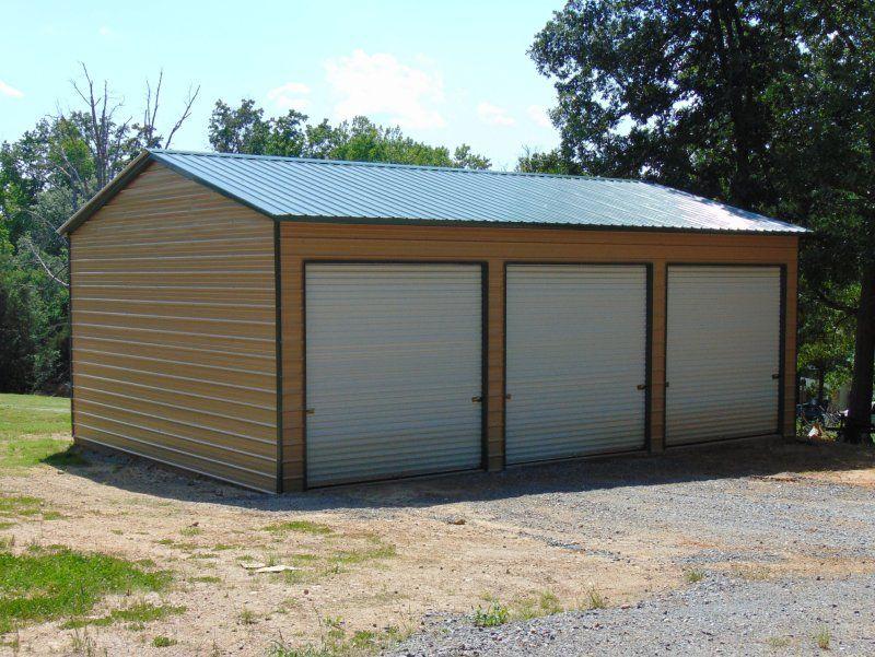 Best Metal Garage Structure Vertical Roof 24W X 36L X 12H 640 x 480