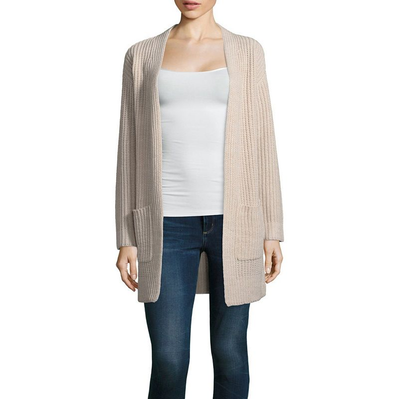 af6215e58c1 a.n.a Long Sleeve Open Neck Cardigan | Products | V neck cardigan ...