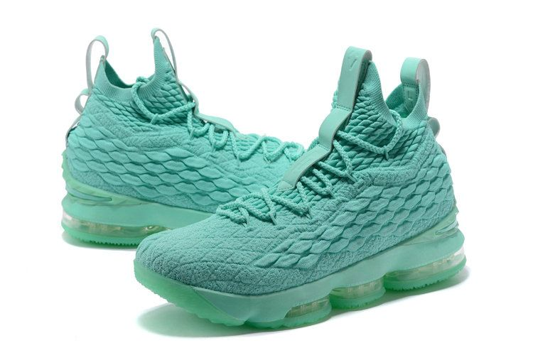 sports shoes 8432f 9bfd9 2018 New Nike LeBron XV EP 15 Mens Original Basketball Shoes Mint Green