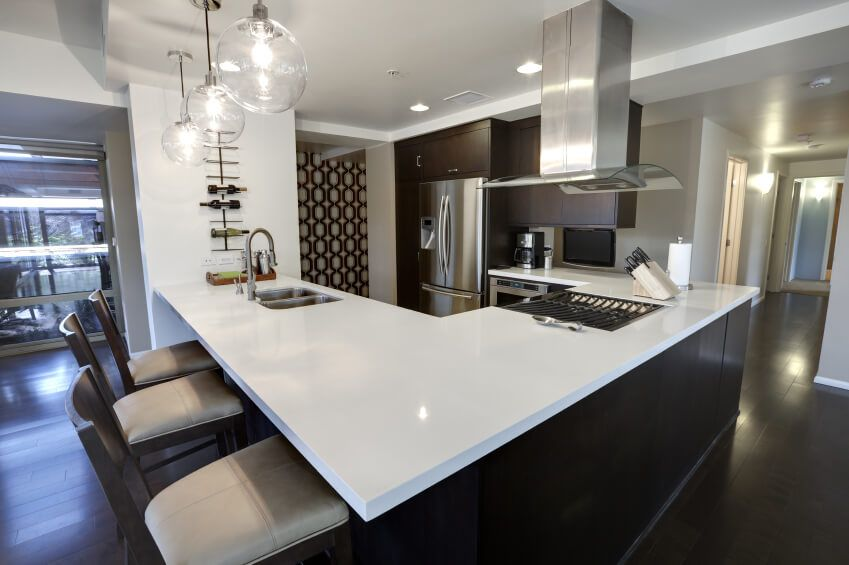 L Shaped Kitchen Designs Ideas For Your Beloved Home  White Extraordinary L Shaped Kitchen Island Design Ideas