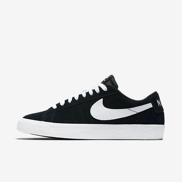 Nike SB Blazer Low XT Shoes Black/White-Gum | original shape skate shoes  low leather | Pinterest | Blazers, Skate shoes and Nike zoom