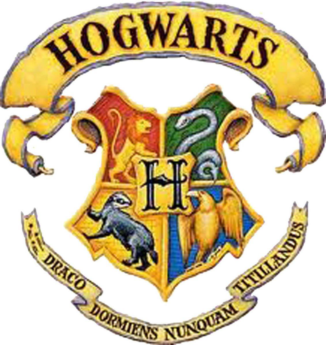 Harry Potter Hogwarts School Logo Multicolour Tattoo For Body Art ...
