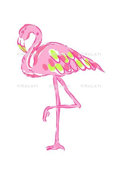 INSTANT DOWNLOAD (no physical items sent) - preppy pink flamingo clipart - perfect for making your own cards, gift tags, invitations, scrapbooks, planner stickers etc.  1 high quality PNG file (approx. 6 long at 300 ppi). IF YOU WOULD LIKE TO USE THIS FOR COMMERCIAL USE, SEE BELOW. This item