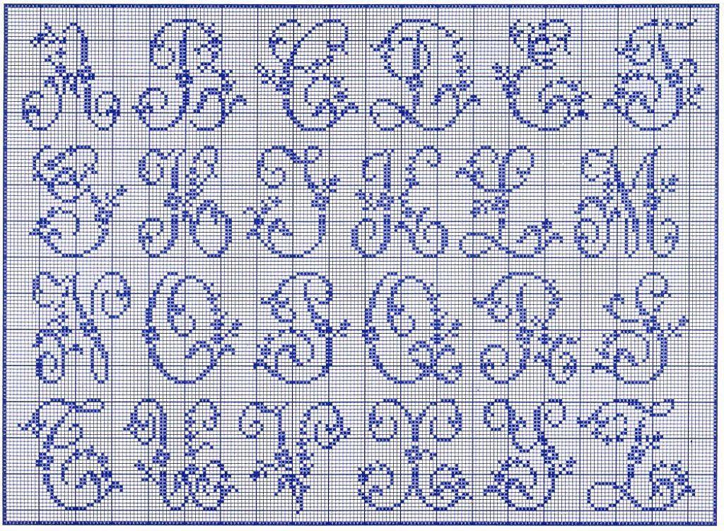 Point de croix lettres anciennes pesquisa do google - Grille point de croix lettre ...
