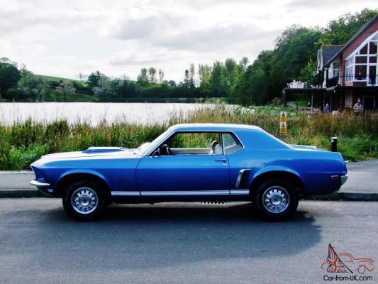 1969 Ford Mustang Gt 390 Coupe Blue Mustang Mustang Ford Mustang