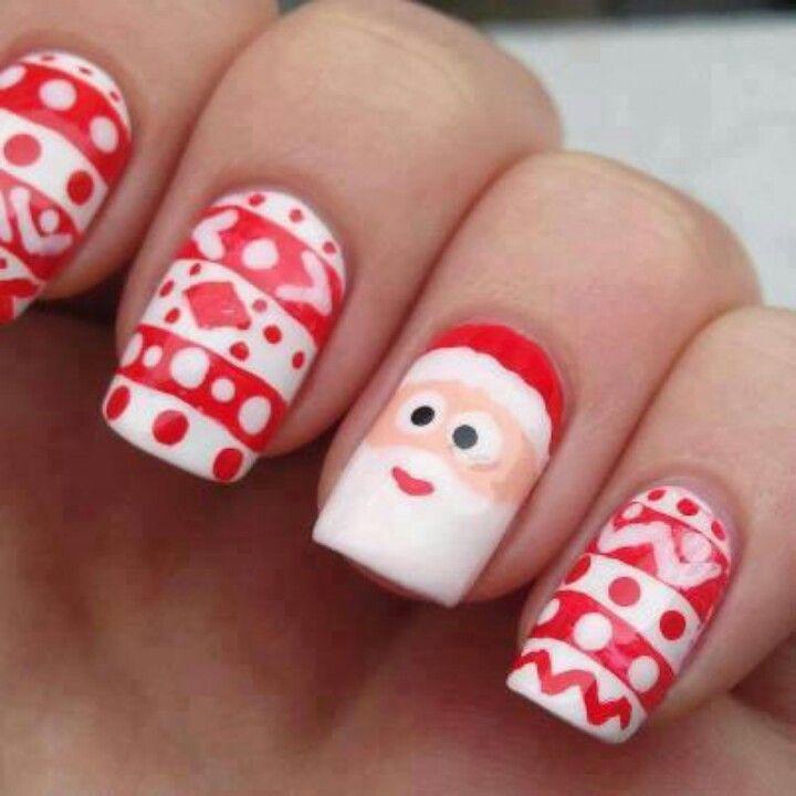 Christmas Nails Christmas Nail Designs Santa Nails Christmas Nails