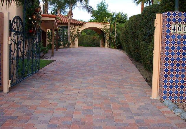 spanish style frontyard ideas | Spanish Tile, Paver ...