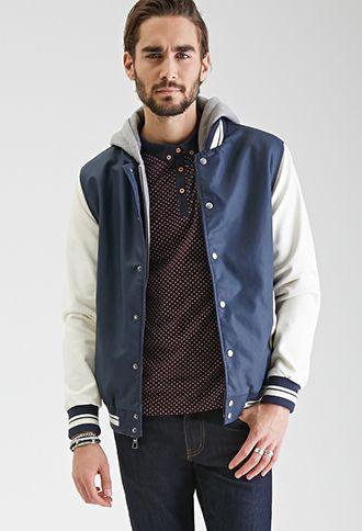 2a3da5702f5 Faux Leather Varsity Jacket | 21 MEN | #f21men | forever 21 | men ...