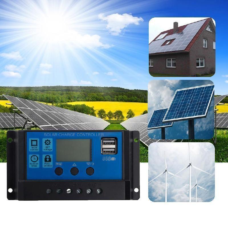 8 26 10 20 30a 12 24v Pwm Dual Usb Solar Panel Battery Regulator Charge Controller On Ebay Home Garden