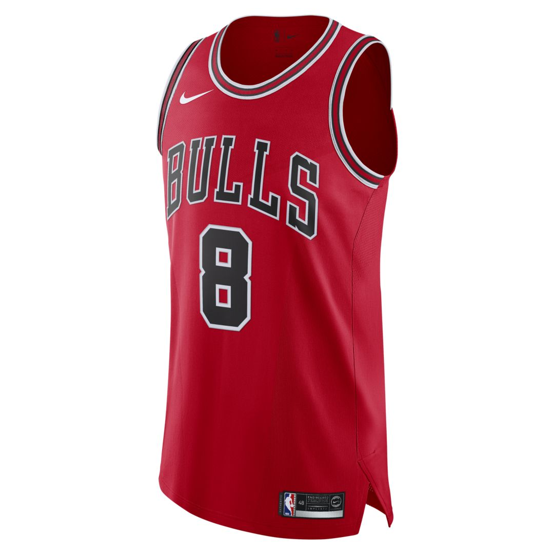 a65aabc3779 Zach LaVine Icon Edition Authentic (Chicago Bulls) Mens Nike NBA Connected  Jersey Size 58 (University Red)